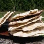 Grillowe pszenne placki na kefirze