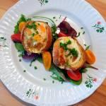 Jajka zapiekane w chlebie