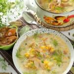 Zupa grzybowa z kiszonymi płachetkami