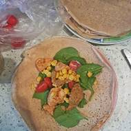 Bezglutenowa tortilla z kurczakiem
