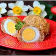 Drobiowe jajka po szkocku z piekarnika