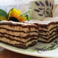 Ciasto Spartak-kakaowy przekładaniec z kremem