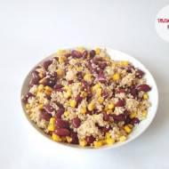 Fasola czerwona, kukurydza konserwowa i kasza jęczmienna pęczak
