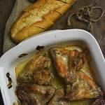 Pieczone skrzydełka w sosie chrzanowym