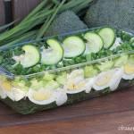 Wiosenna sałatka z brokułem i jajkiem