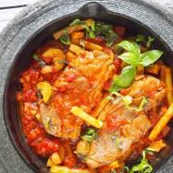 Jagnięcina z cukinią i fasolką szparagową / Lamb with zucchini and green beans