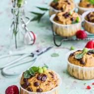 Muffinki z mąką z zielonego groszku