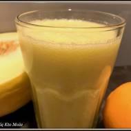 Orzeźwiający koktajl melonowo - pomarańczowy