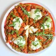 Pizza wegetariańska na spodzie z batata :)