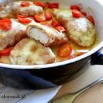 Piersi z kurczaka w prosciutto z mozzarellą i pomidorkami