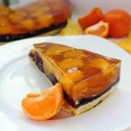 Ciasto z kukurydzianych chrupek z kremem, owocami i galaretką (bez pieczenia, wegańskie)