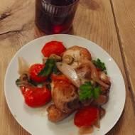 Kurczak w winie- palce lizać! :)