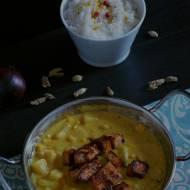 Wegańskie curry z tofu i ananasem