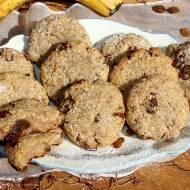 Bananowe ciasteczka z kleiku ryżowego z rodzynkami (bez cukru, jajek i mąki)