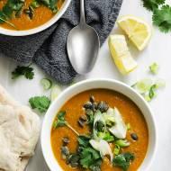 Garam masala zupa z dyni piżmowej