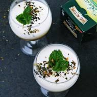 Orzeźwiający mus z zieloną herbatą i miętą