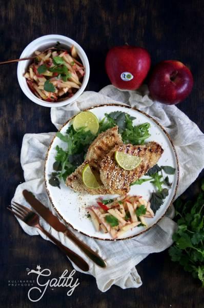 Grillowana pierś z indyka z salsą jabłkową