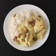 Filet kurczaka w sosie cytrynowym z rodzynkami