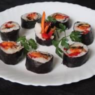 Koreańskie sushi, czyli kimbap z grzybami portobello