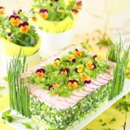 Wytrawny tort chlebowo-serowy