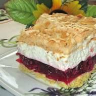 Ciasto Malinowa chmurka-pyszne, z malinami, bezą-na dużą blaszkę