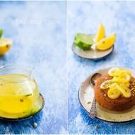 Ciasto sezamowe z syropem z limoncello / Sesame cake with limoncello syrup