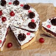 Ciasto strażackie, czyli kruche ciasto z nadzieniem wiśniowym i bitą śmietaną