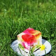 Kolorowy galaretkowy deser