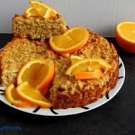 Ciasto pomarańczowe, bezglutenowe, bez mąki, z płatkami owsianymi