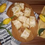 Małe wafelki rafaello. Wafelki z pysznie kokosową masą.