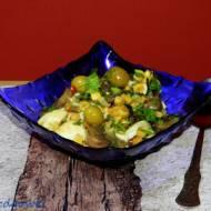 Sałatka z pieczarek i hiszpańskich oliwek