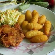 Kotlety siekane z piersi kurczaka z warzywami