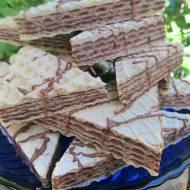 Pischingery-wafle z kremem czekoladowym-bez mleka w proszku