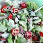 Sałatka z ogórka, rzodkiewki i pomidorów