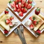 Truskawkowelove – naleśniki z lodami domowymi i truskawkami