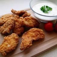 stripsy jak z KFC - chrupiące kawałki kurczaka w panierce