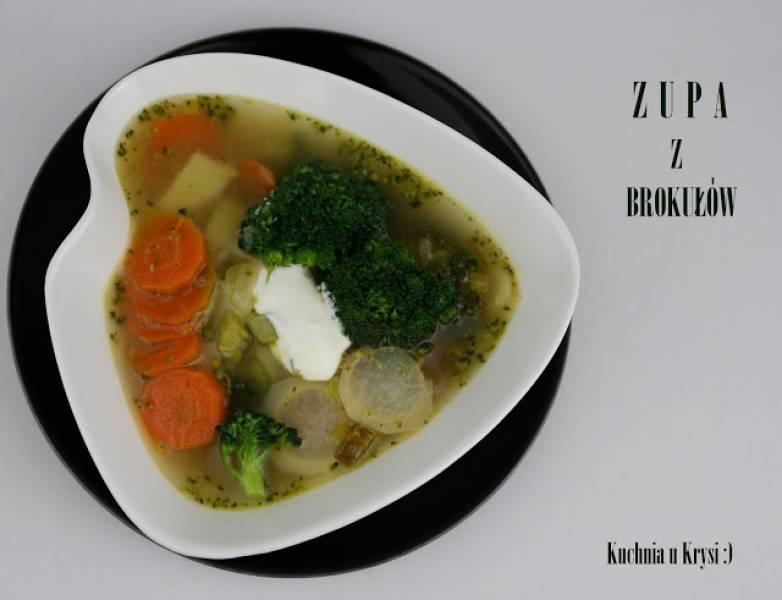Zupa z brokułów, z warzywami