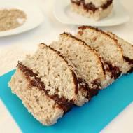 Ciasto ze słonecznikiem i kokosem z kremem czekoladowym (wegańskie)