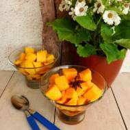 Mango w syropie z wanilią i limetką