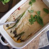 Szparagi zapiekane pod beszamelem / Asparagus baked with bechamel sauce