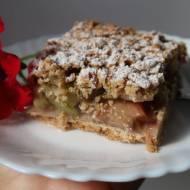 Idealne ciasto rabarbarowe z kruszonką
