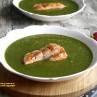 Zupa szpinakowa z łososiem