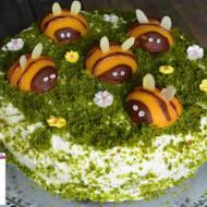 Ciasto brzoskwiniowo - szpinakowe