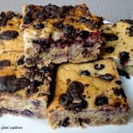 Ciasto owsiane z borówkami i czekoladą