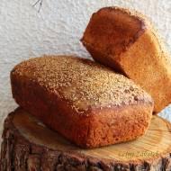 Chleb z dodatkiem mąki jaglanej, mąki z pszenicy Kamut, suszonych pomidorów i ziół