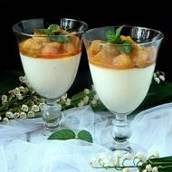 Kokosowa kasza manna z karmelizowanym rabarbarem