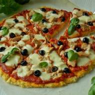 Pizza z tuńczykiem na kaszy jaglanej
