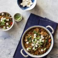 Ryż ze szpinakiem, pomidorami i fetą po grecku - Spanakorizo