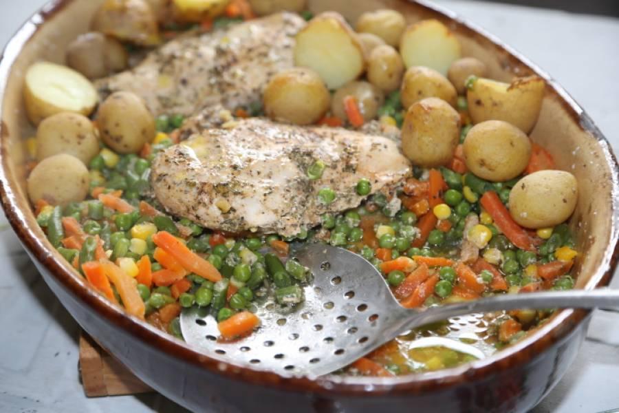 Pyszny obiadek, kurczak na warzywach