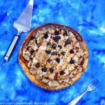Tarta serowa z borówką amerykańską, białą czekoladą i płatkami żytnimi